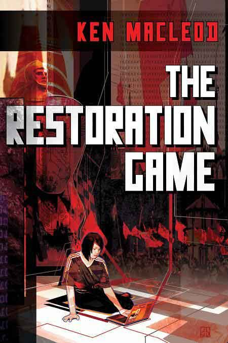 """The restoration game"",  by Ken MacLeod - There is no such place as Krassnia. Lucy Stone should know--she was born there. In that tiny, troubled region of the former Soviet Union, revolution is brewing. Its organizers need a safe place to meet, and where better than the virtual spaces of an online game? Lucy, who works for a start-up games company in Edinburgh, has a project that almost seems made for the job: a game inspired by The Krassniad, an epic folk tale concocted by Lucy's mother."