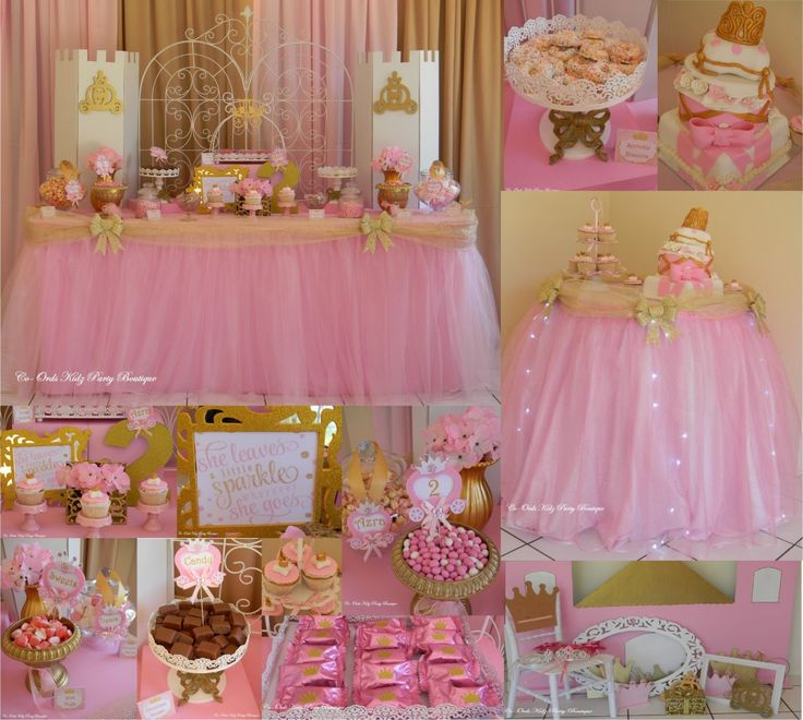 Princess Pink & Gold party by Co-ords Kidz Party Boutique