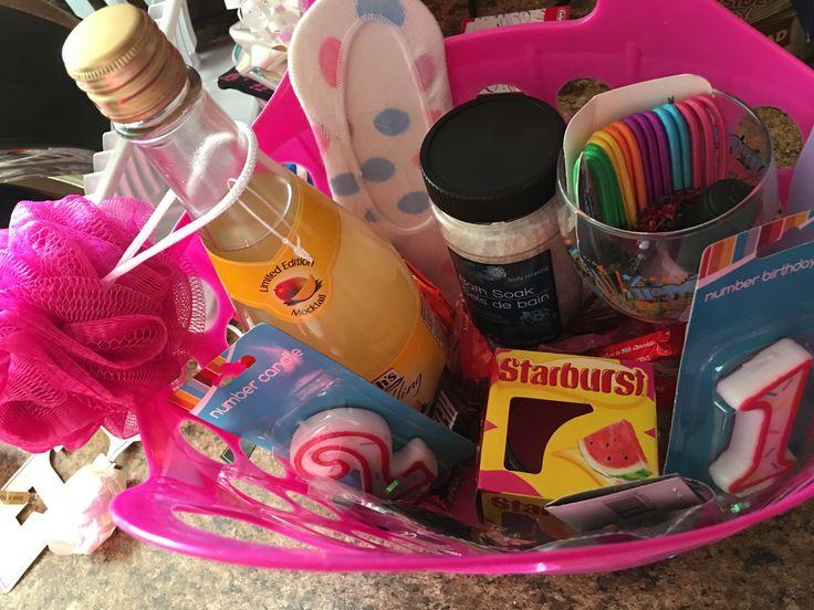Sams 21st birthday basket diy by me (: lol spa themed