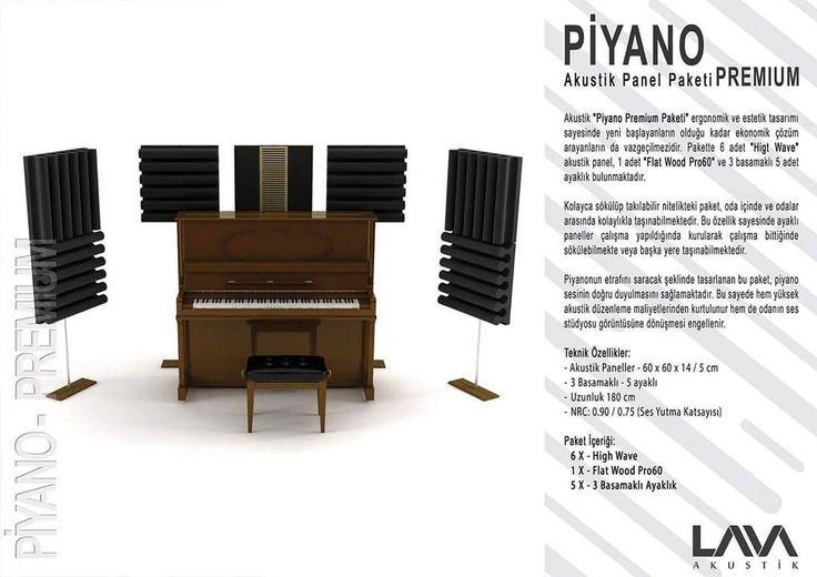Piyano Premium Akustik Panel Paketi www.muzikenstrumani.com #lavaakustik #lava #akustik #acoustic #acustic #panel #music
