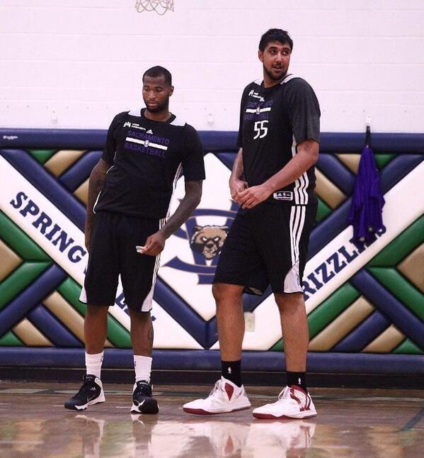 7'5 Sim Bhullar (first Indian-origin player in NBA) even makes DeMarcus Cousins look small