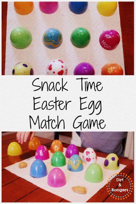 Snack Easter Egg Match Game