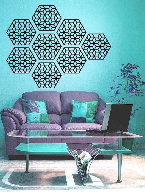 Motif géométrique wall decal-set de 8 Stickers par RadRaspberry