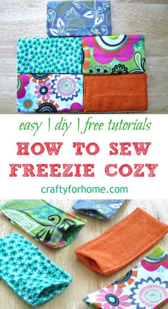 How to sew Freezie Cozy | Simple sewing project for the summer to sew …   – Crafts, Sewing, Crochet, DIY