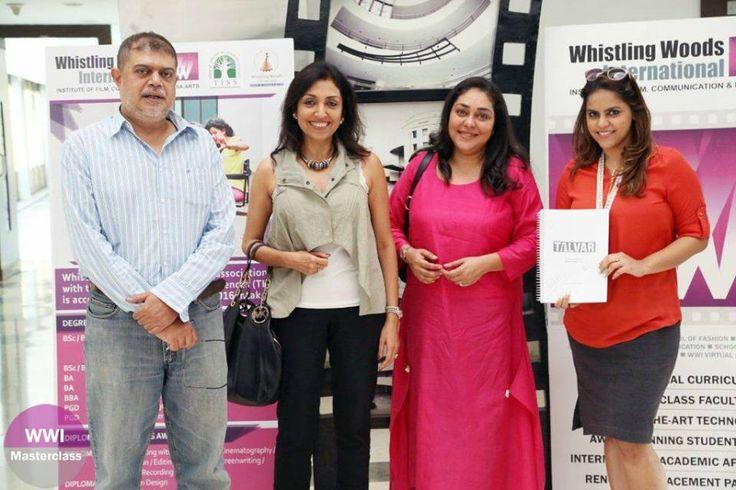L-R: Somnath Sen, Priti Shahani, Meghna Gulzar, Meghna Ghai Puri