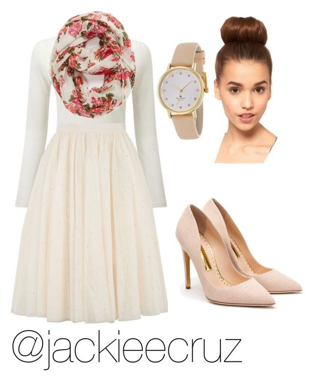 """Church Outfit this Sunday"" by jackieecruz on Polyvore featuring Ted Baker, Capelli New York, Kate Spade, Rupert Sanderson, women's clothing, women, female, woman, misses and juniors"