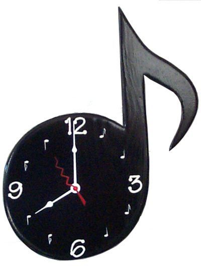 Music Note Wall Clock Unusual Clocks Music Notes Music