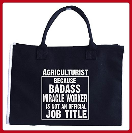 Agriculturist Cos Badass Miracle Worker Is Not A Job Title - Tote Bag