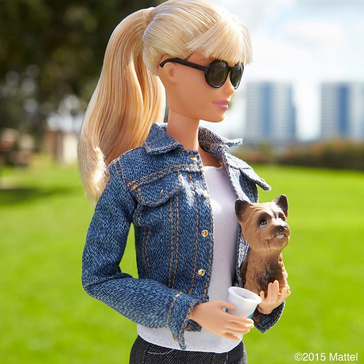 """""""Scoping out the dog park with Ms. Honey!  #barbie #barbiestyle"""""""