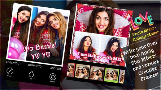 Photo Mixer Collage is great photo editor app that allows to create amazing photo collage with art frames, stickers, overlays, photo effects.