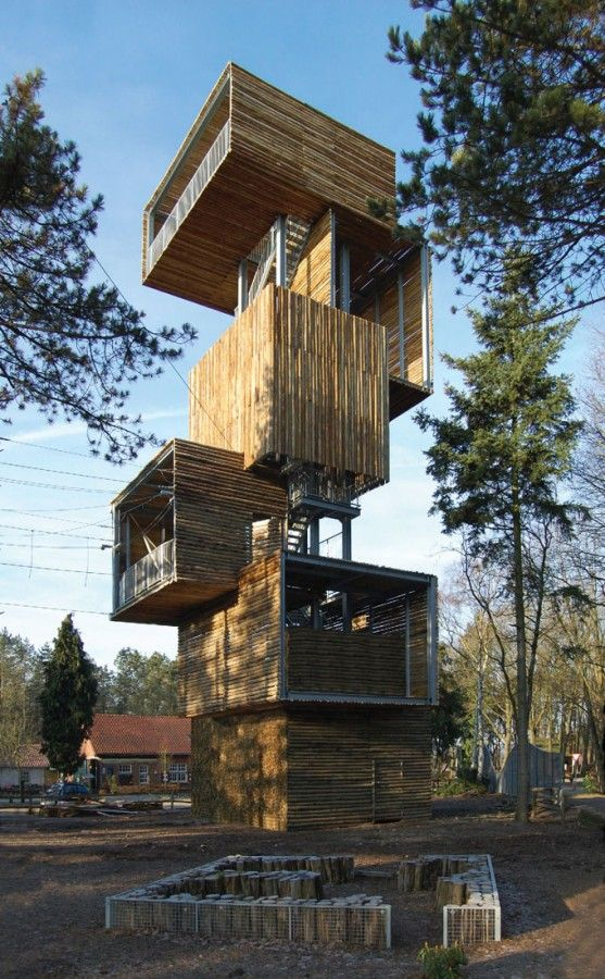 Reusel, the Netherlands. Viewing Tower