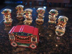 a 1992 mr christmas holiday carousel 6 horses lights 21 musical carol song animate
