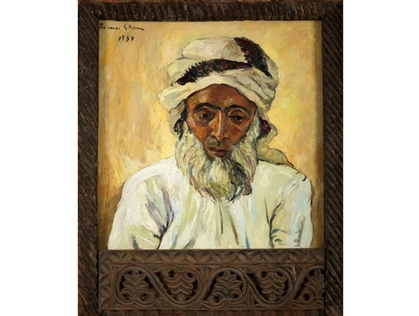 Irma Stern  South African 1894-1966  Arab,  oil on canvas, in the original Zanzibar frame  66,5 by 65,5cm  R7 000 000 - 9 000 000   (Sold R 17 million)  http://www.straussart.co.za/ajax/highlight/21/370