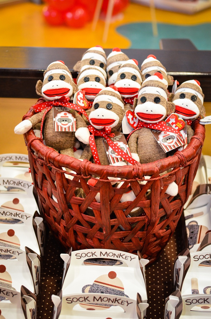 Sockmonkey Party Favors Amp Goodie Boxes Fl Baby Shower