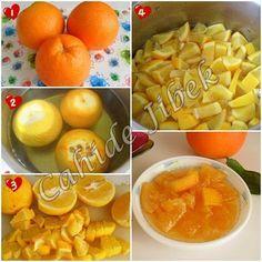 portakal reçelinin yapılışı