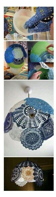 Lace lamp shade