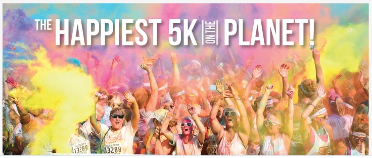 "Get your ""happy"" on @TheColorRun!  #PaintRaceThecolorrun"