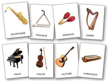 L'imagier des instruments de musique à imprimer pour la maternelle, imagier instruments de musique maternelle