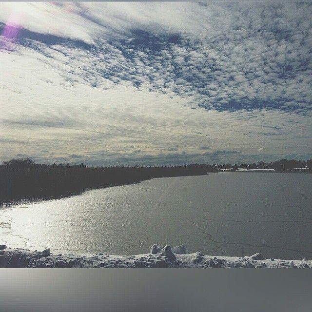 Frozen Lake on Long Island
