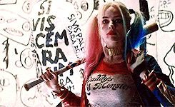 """#DisneyOneReasongif Margot Robbie as Harley Quinn in The Suicide Squad """"We're bad guys. It's what we do"""""""