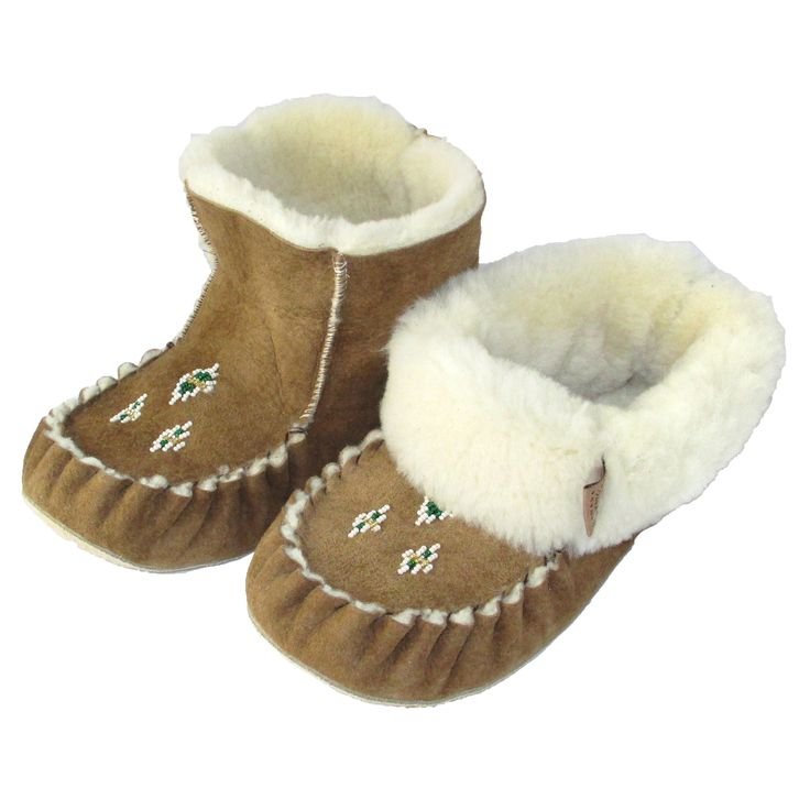 Women's High Sheepskin Slippers