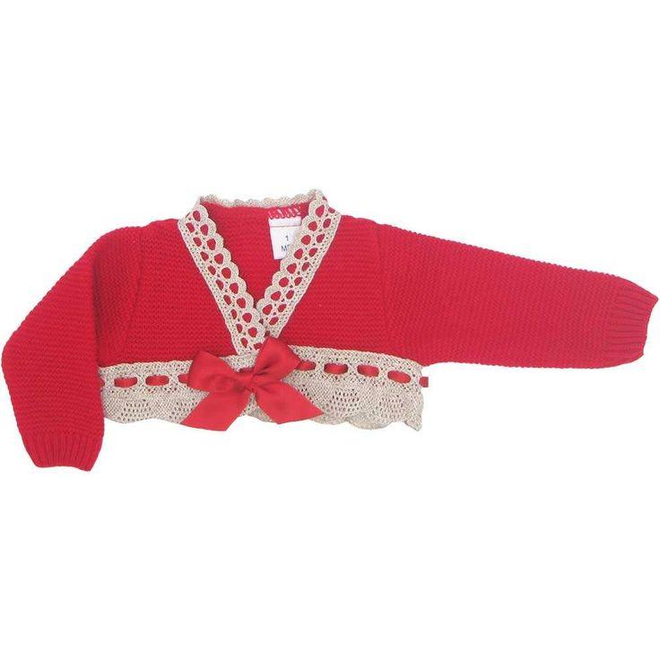 Chaqueta de lana con puntilla encaje bolillo