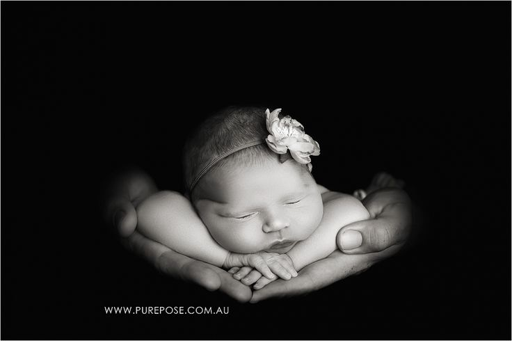 Gold Coast Newborn Photographer Black and White Dads Hands