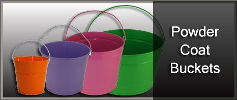 Metal powder coat buckets ... http://www.e-holidaytins.com/shop/online/index.php/tins-cans/powder-coat-buckets.html