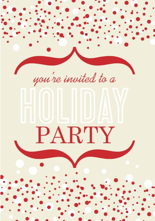Retro invite by PurpleTrail.com. Vintage Chic Office Holiday Party Ideas Here!