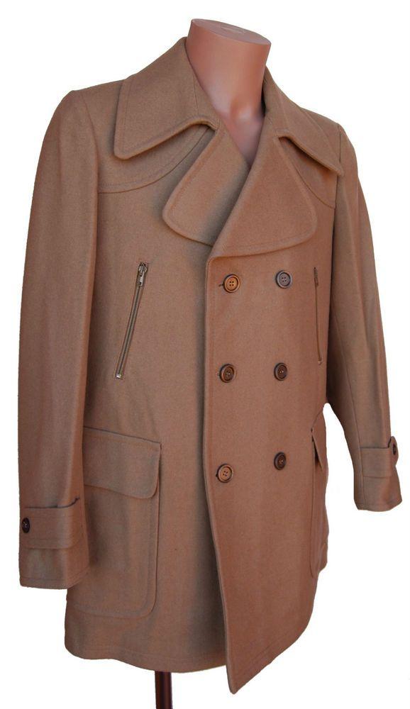 Manteau 3/4 caban homme marron Marque Italienne Ivy Oxford  vintage NEUF 80 S
