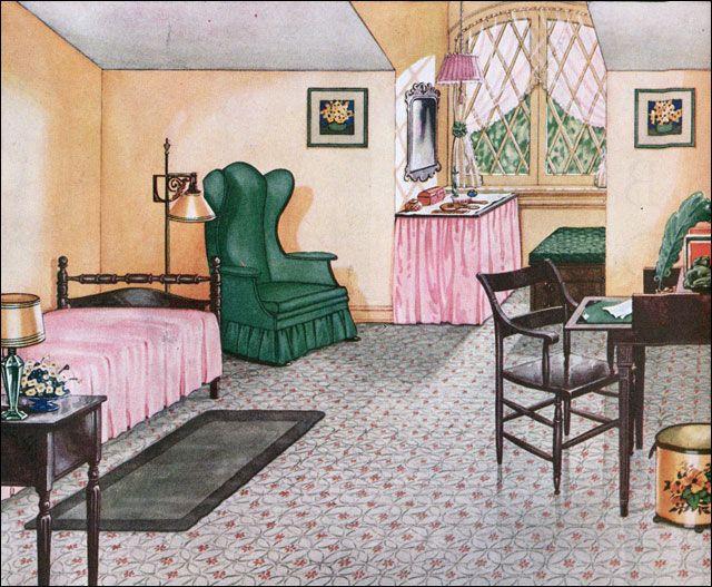 Schlafzimmer Dachgeschoss : ... Vintage Häuser, Schlafzimmer und ...