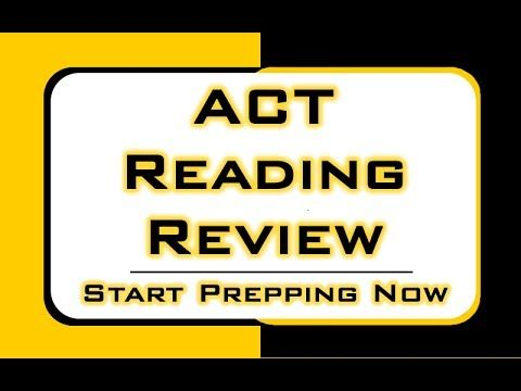 Get prepared for the reading portion of the ACT exam! This video is a review of the ACT Reading section. #act #reading