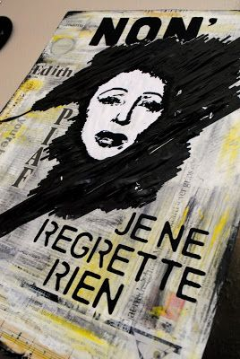 artBASM: Edith PIAF - NON, je ne regrette rien - Mixed Media Collage by BASM