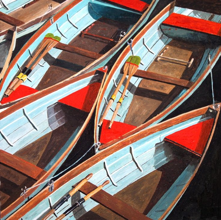 ARTFINDER: Red and Blue Boats by Frank Austin -