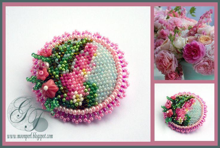 Розовый букет | biser.info - всё о бисере и бисерном творчестве