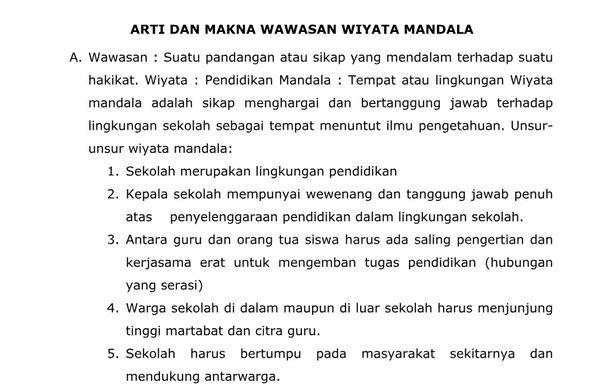 Materi Mpls Arti Dan Makna Wawasan Wiyata Mandala Pendidikan