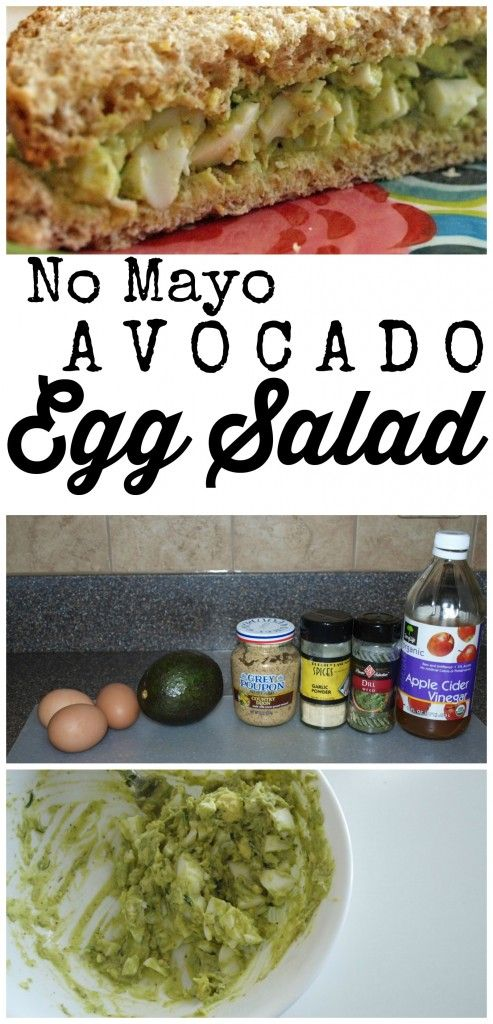 This Avocado Egg Salad recipe is made with NO mayo and is the best of your life!  It's healthy and easy to make.