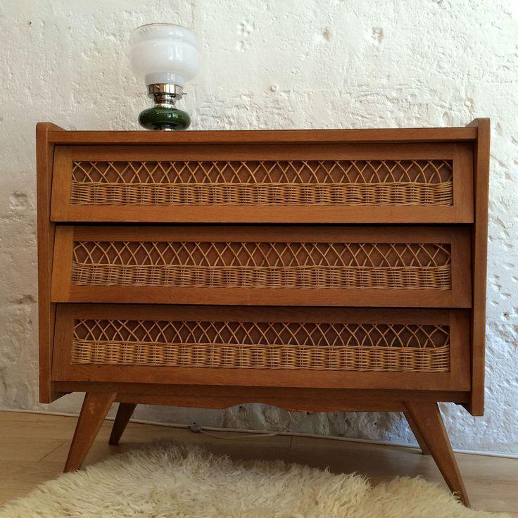 Petit chiffonnier pas cher commode meubles en pin pas for Petits meubles en rotin