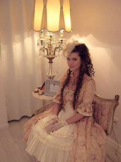 Marie-Antoinette outfit for the grand opening of the new Boutique 1861.