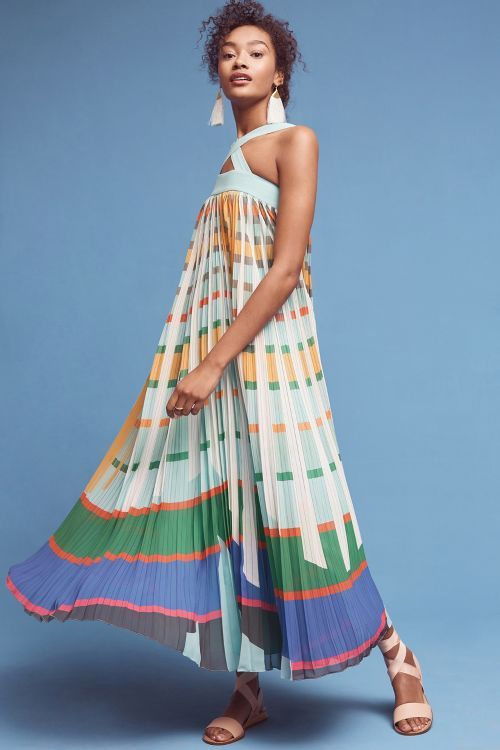 Abstraction Maxi Dress