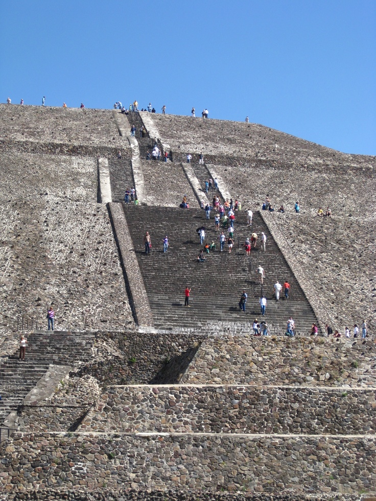 Teotihuacan, Mexico............Huge!  The Egyptians had nothing on these guys!