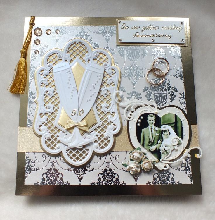 Handmade Golden Anniversary card by mandishella