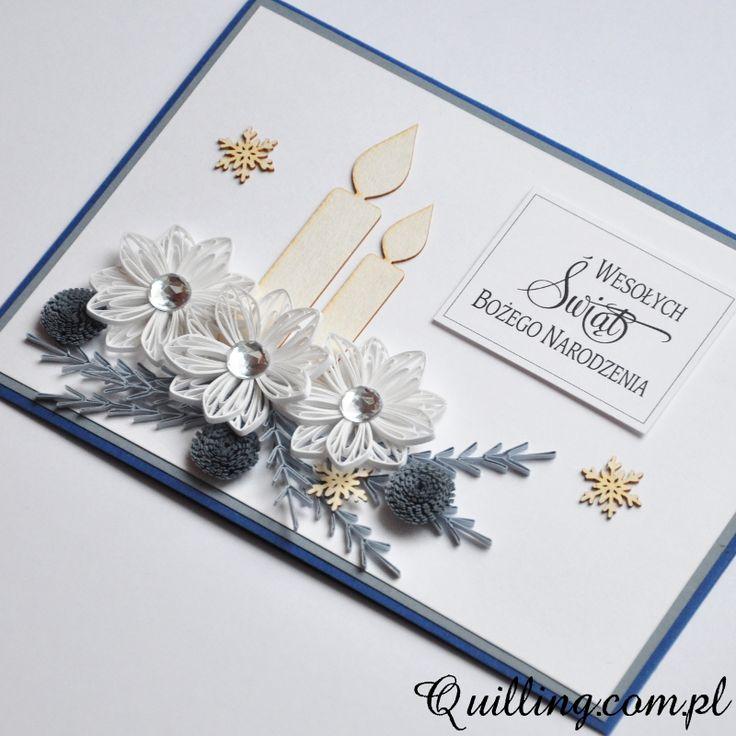 Białe święta • Quilling.com.pl - kartki okolicznościowe & greeting cards