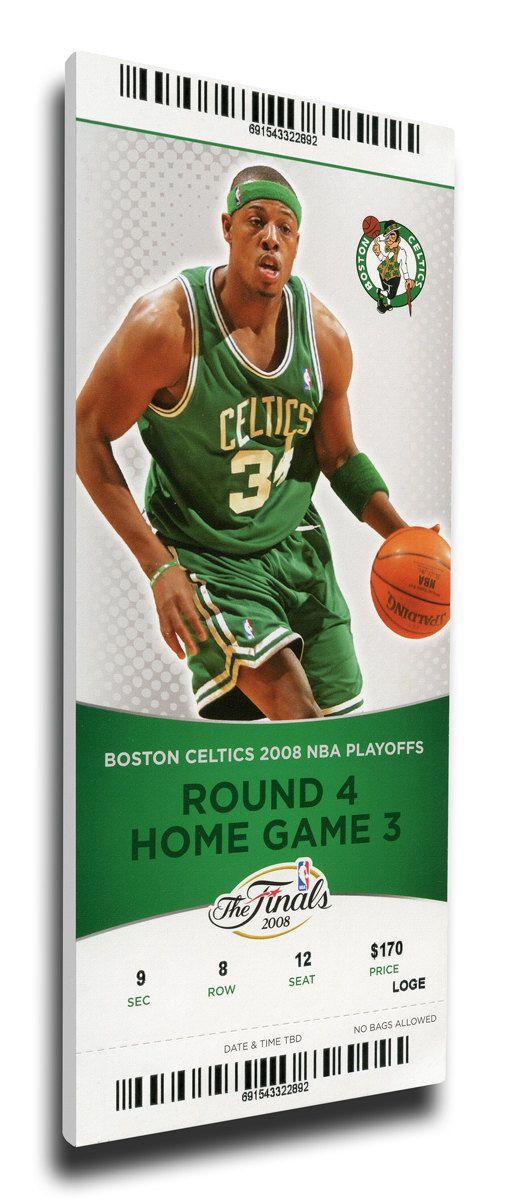 2008 NBA Finals Canvas Mega Ticket - Game 6, Pierce - Boston Celtics