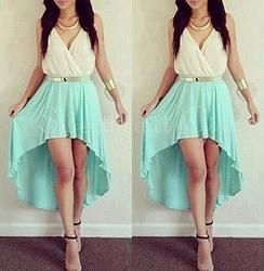 Cute high-low light green slim homecoming dress #promdress $142.99 #coniefox #2016prom