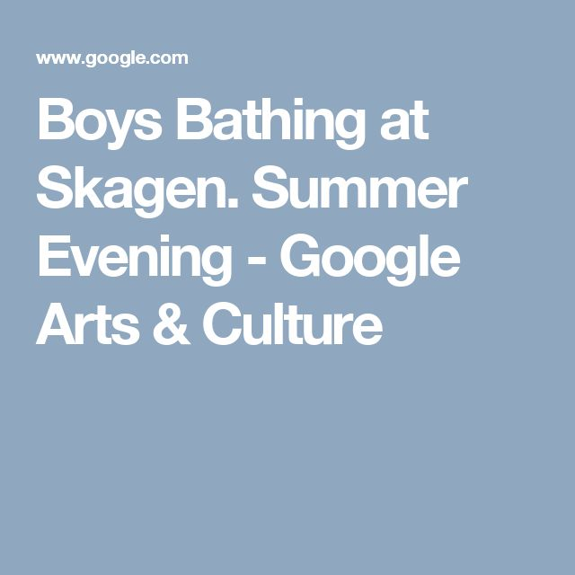 Boys Bathing at Skagen. Summer Evening - Google Arts & Culture