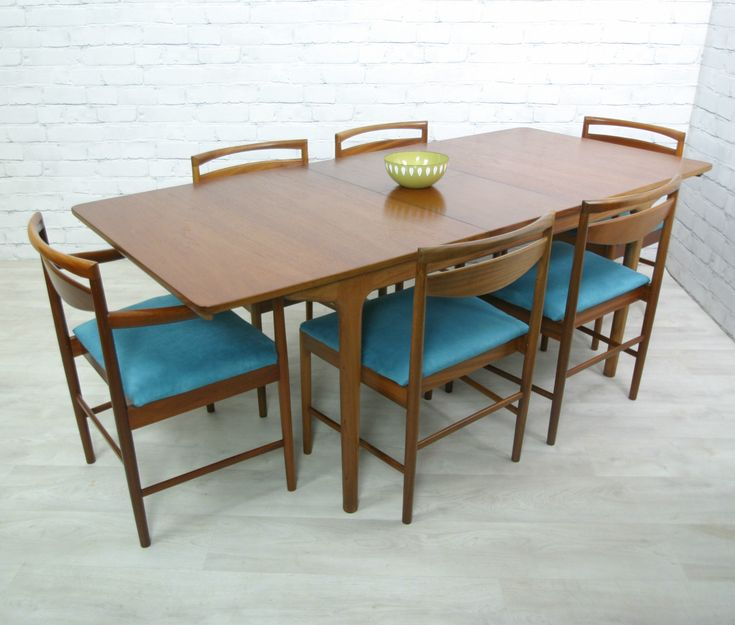 RETRO VINTAGE TEAK MID CENTURY DANISH STYLE DINING TABLE EAMES ERA 50s 60s  | Danish Style, Retro Vintage And Teak