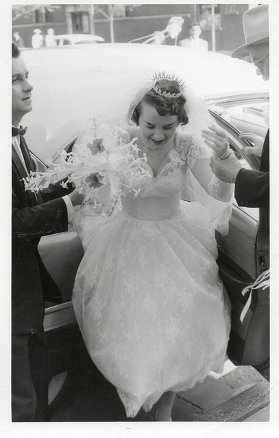 lace overlay vintage wedding gown- inspired x