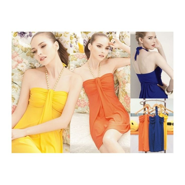 Yellow Sexy Tube Mini Dress MD513 Model  60713 Condition  New  MD513 Blue-orange-yellow BEST QUALITY Ice cotton bust62-106 length70 strap can be move 300gr Retail IDR150.000	Reseller IDR112.500	Wholeseller IDR93.750