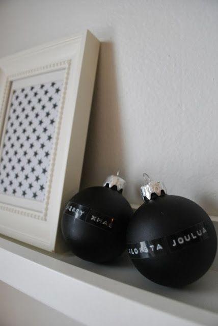 DecoDreamer's Diary: Christmas ornaments + DYMO